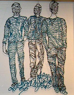 Tres chicos. Gampi