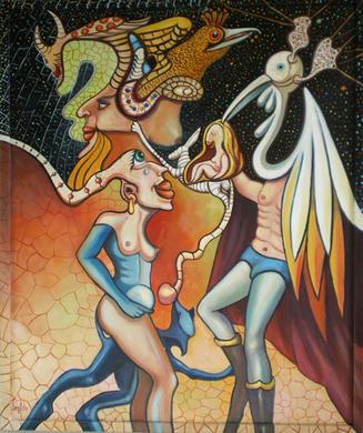 'Trouxeronnolo',  oleo sobre lienzo, 67x56 / 88x76