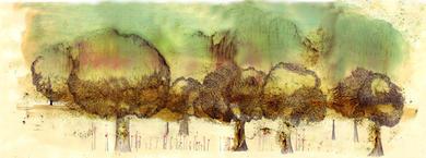 Bosque 1. Acuarela