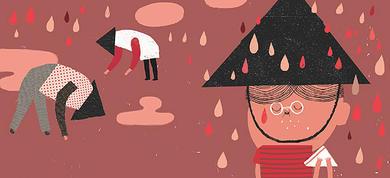Todo empezó por la lluvia. Álbum infantil.